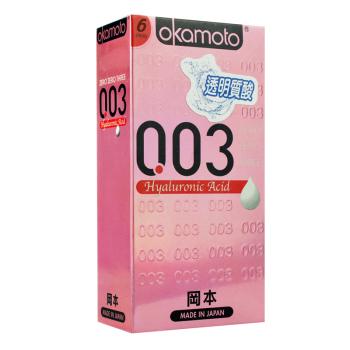 冈本OK-0.03透明质酸避孕套6片装