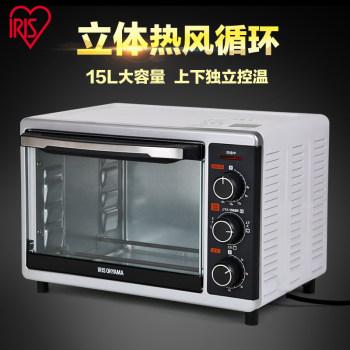 爱丽思IRIS 立体热风循环家用烘焙多功能电烤箱15L FVC-D18AC