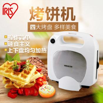 爱丽思IRIS 双面加热烤饼机家用小型易清洗华夫饼三明治甜甜圈机 ICMS-704P