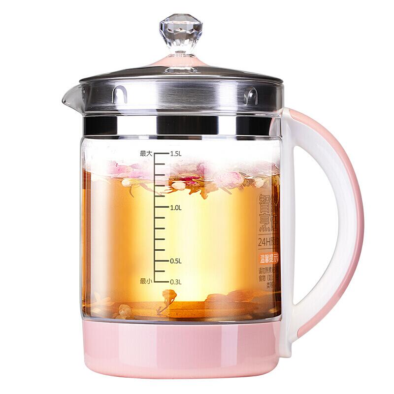 九阳(joyoung)养生壶玻璃加厚煎药壶多功能免滤煮茶器 k15-d05s