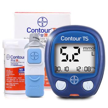 拜耳拜安康家医用血糖仪试纸套装 血糖仪+50片试纸