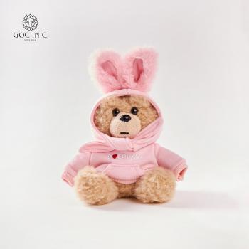 GOC IN C兔子熊充电宝潮流卡通毛绒移动电源(粉色)