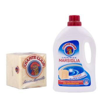 意大利进口公鸡头管家 白麝香洗衣液+公鸡头管家 马赛洗衣皂300G