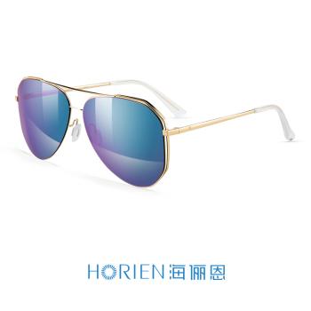 亮金框+紫蓝镀膜高清偏光太阳镜N6658-N02