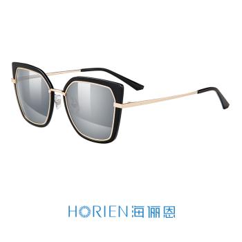 海俪恩亮黑框+水银镀膜N6605-P16