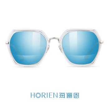 亮透明+渐近蓝镀膜高清偏光太阳镜N6616-N65