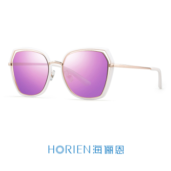 象牙白框+淡紫膜高清偏光太阳镜N6621-N25