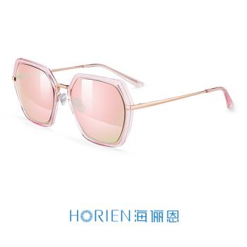 亮透明粉+粉紫镀膜高清偏光太阳镜N6616-N17