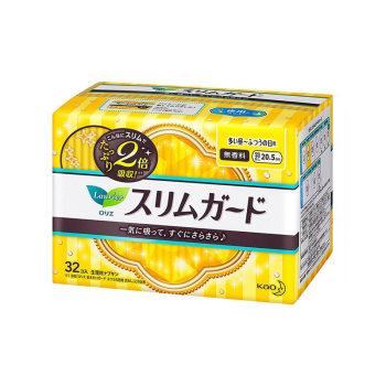 花王日用无护翼超薄卫生巾20.5cm*32p*2包