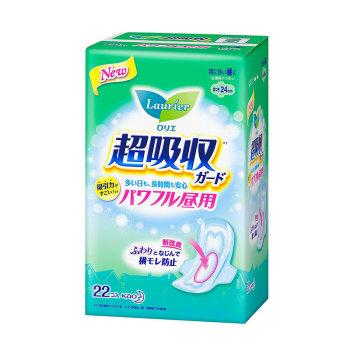 花王乐而雅零触感超吸収強力吸収日用护翼卫生巾24cm22片*2包