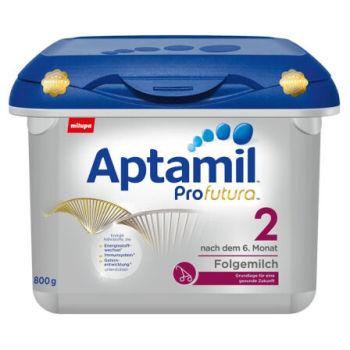 德国Aptamil爱他美白金版2段婴儿牛奶粉800g(6-10个月宝宝)宝盒装