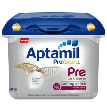 德国Aptamil爱他美白金版PRE段婴儿牛奶粉800g(0-3个月宝宝)宝盒装