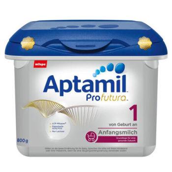 德国直邮 德国Aptamil爱他美白金版1段婴儿牛奶粉800g(3-6个月宝宝)宝盒装