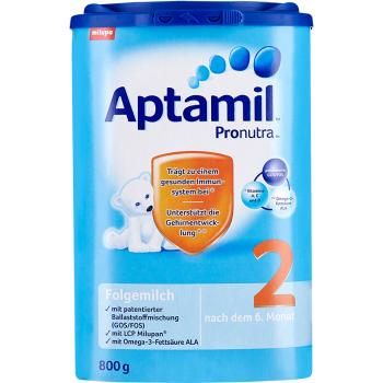德国Aptamil爱他美奶粉2段(6-10个月宝宝) 800g