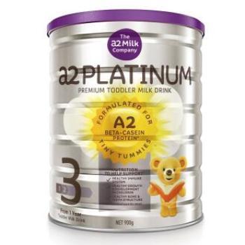保税区直发 新西兰A2 Platinum酪蛋白婴儿奶粉3段(1-3周岁宝宝)900g【2罐起发】