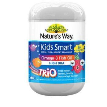 保税区直发 澳大利亚Natures Way佳思敏 儿童鱼油3种口味 180粒
