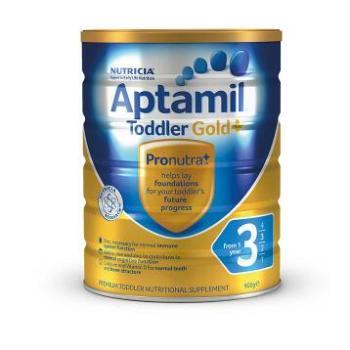 保税区直发 澳洲新西兰可瑞康Aptamil爱他美金装婴幼儿奶粉3段(1-2周岁宝宝) 900g