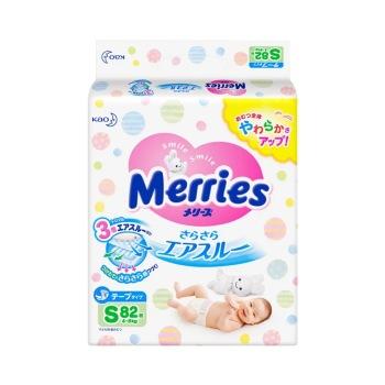 保税区直发 日本Merries花王纸尿裤 S82【1包组合】