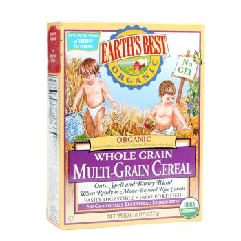 保税区直发 美国Earth's Best世界最好 3段高铁婴儿全谷物米粉 婴幼儿辅食(9个月以上227g)